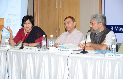 Ankita Mukherji makes a point during the panel discussion.