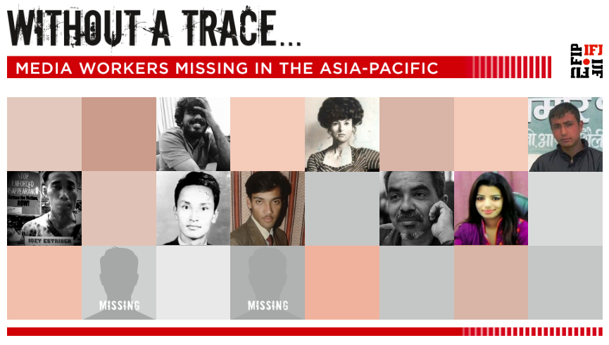 Enforced journalist disappearances: IFJ counts the missing days