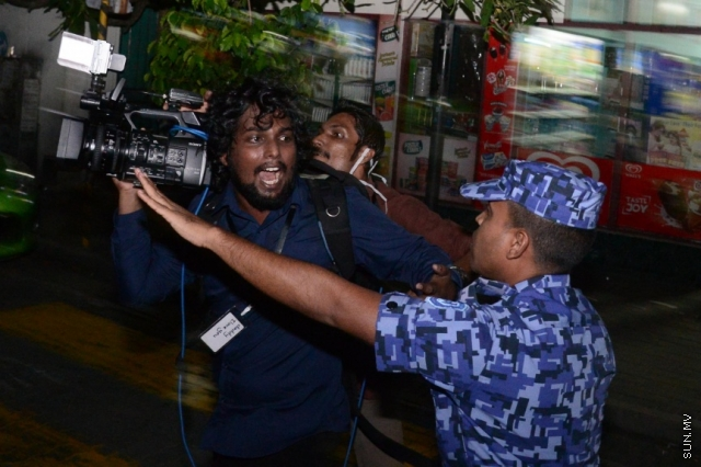 Maldives police rough up, arrest journalists covering opposition rally