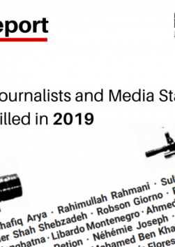 Roll Call of Deaths and Tragedies: IFJ Annual Killed List Report 2019
